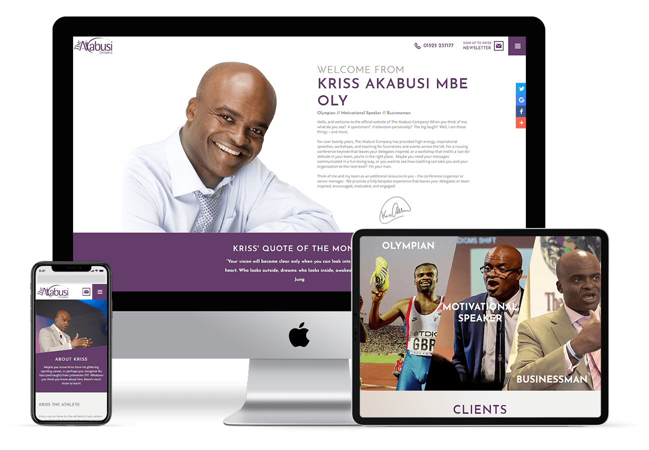 Web Design for The Akabusi Company