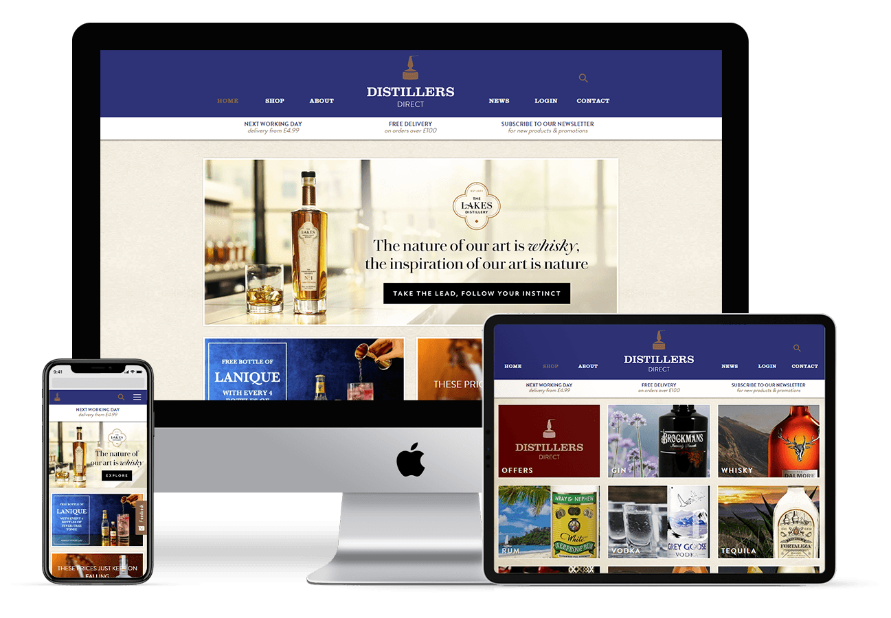 Web Design for Distillers Direct